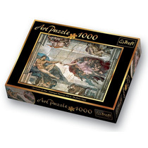 Art Puzzle 1000 Piezas Trefl The Creation Of Adam Michelange