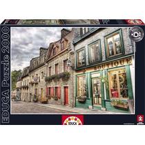Rompecabezas Educa 2000 Piezas Barrio Petit Champlain Quebec