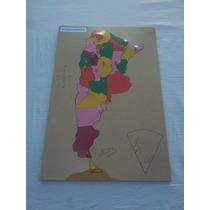 Rompecabezas Mapa Argentina Grande En Madera