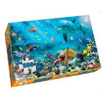 Puzzle 500 Piezas Animales Del Mar Nupro 65x45cm