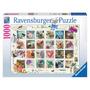 Rompecabezas Ravensburger X 1000 Piezas - Estampilla Floral