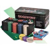 Set De Poker 200 Fichas Numeradas + Cartas + Paño - Oferta!