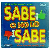 Sabe O No Lo Sabe Juego De Mesa Niños Marca Toyco Apto +8