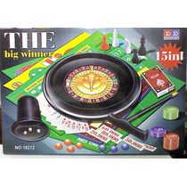 Set Juegos 15 En 1 Ruleta,ajedrez,poker,ludo,dados,bakgammon