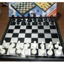 Ajedrez Backgammon Y Damas Magnetico 3 En Uno 24 X 24