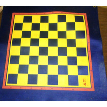 Tablero De Ajedrez De Hule Y Backgammon 35 X 35