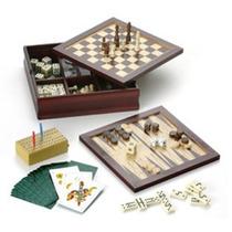 Set De 6 Juegos En Caja De Madera,ideal Regalo Empresarial
