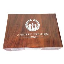 Ajedrez Premium Piezas Color Simil Madera 4.3