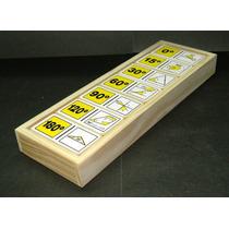 Domino Ángulos 28 Piezas Madera Material Didáctico