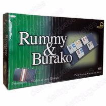 Rummy Burako Premium Attache Maletín Fichas Bajorrelieve