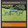 Juego Mesa Y Sillas Sutra Exterior Jardin Aluminio