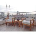 Juego Sillones + Mesa Jardín Balcon Terraza Madera Exterior