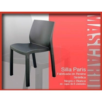 Oferton Silla Plastica Reforzada Paris Negra