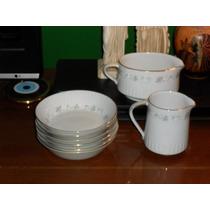 Compoteras Porcelana Tsuji, Bordes En Oro