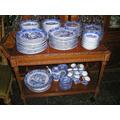 701- Vajilla Tsuji Old Blue Platos Fuentes Compoteras 133 P