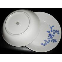 $1 Silant 6 Platos Hondos Porcelana Verbano Azul Años