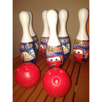 Juego Bowling Cars Grande Impecable!