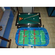 Mini Tejo + Mini Pool De Mesa + Mini Metegol