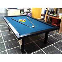 Mesa De Pool Profesional 2.40mt Mdf Pintura Laqueada Hermoso