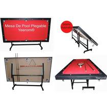 Mesa De Pool Plegable / Rebatible Yeerom® Nuevo