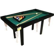 Mesa De Pool Mini 1.40x0.80 ~ Laqueada 6y12 Cuotas S/interes