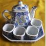 Juego De Té Porcelana Irufa168 Japón Miniatura +cenicero Reg