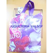 Violetta Bolso Cartera Pvc Con Manija Original