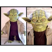 Yoda Muñeco Tamaño Bebé! 42cm! Con Ropa De Tela, Life Size