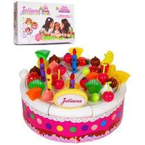 Torta Feliz Cumpleaños Juliana Con Luces Y Sonido Bilingue !