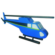 Helicóptero De Juguete. Hecho En Madera