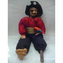 Juguete Artesanal Antiguo Pirata Con Loro