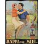 Cartel Antiguo De Publicidad Grappa Con Miel Chipola. 23043