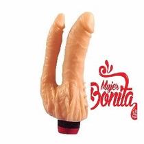 Vibrador Doble Penetración Con Estimu.clitoris Mbsexmoron