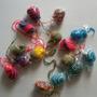 Pelotitas Para Gatos. Hechas A Crochet! 3 X $90