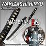 Katana Wakizashi Kensei Hiryu Full Tang Hamon Acero 1045