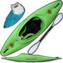 Kayak Funky Atlantikayaks Surfero Cuchara + Cubre En Palermo