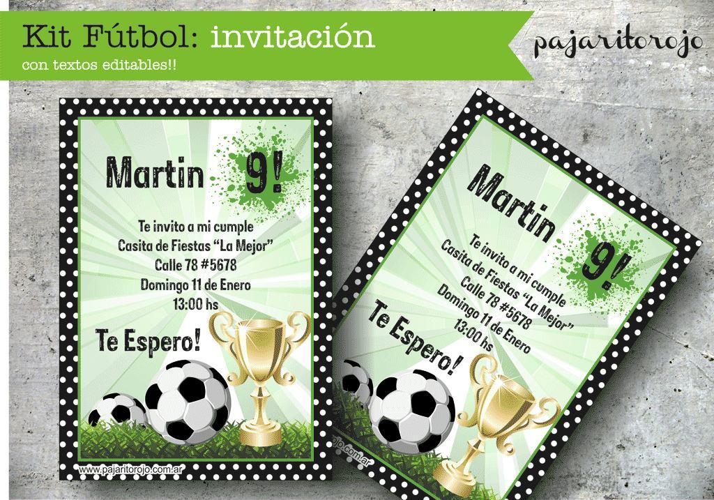 Tarjetas futbol cumpleaños Imagui