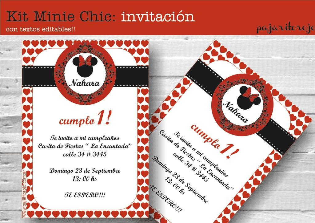 Tarjetas De Cumpleaños De La Minnie Roja Imagui
