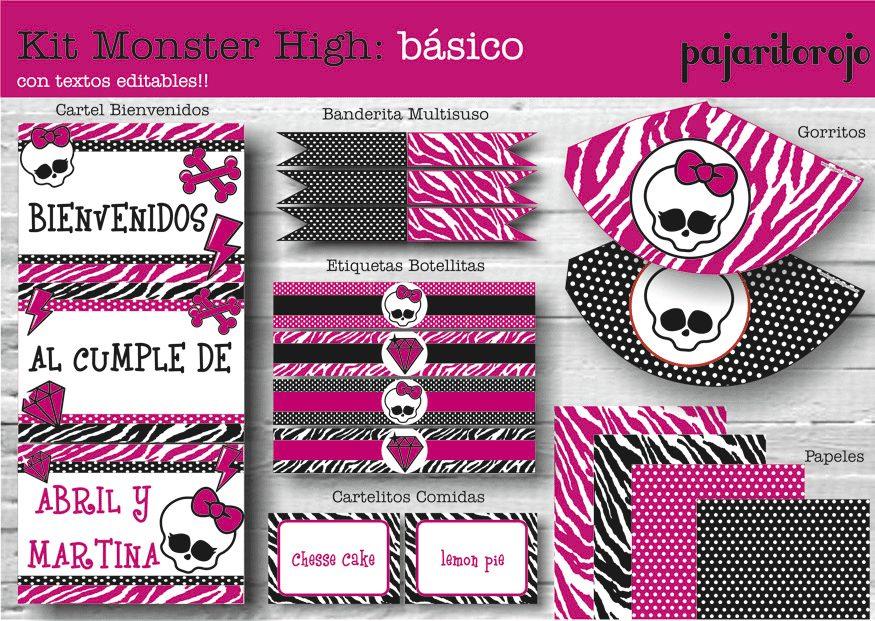 Kit Cumpleaños Monster High - $ 150,00 en MercadoLibre