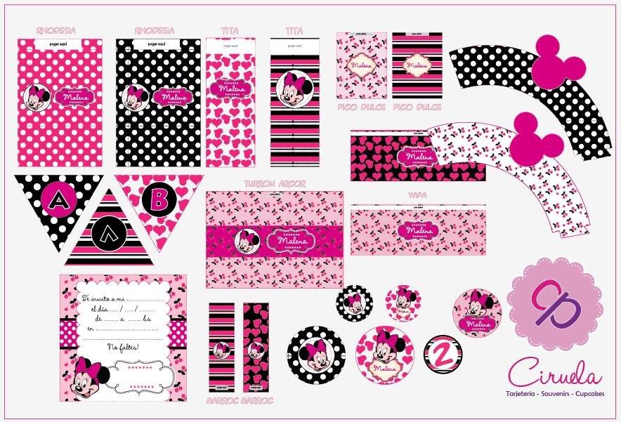 Kit De Golosinas Para Imprimir En Casa! Minnie Mouse - $ 70,00 en ...