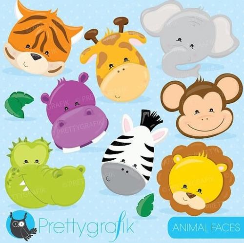 Kit Imprimible Animalitos De La Selva 4 Imagenes Clipart - $ 9,99 ...