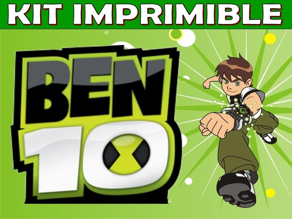 Kit Imprimible Ben 10 Cumpleaños Tarjetas Invitaciones - $ 39,99 ...