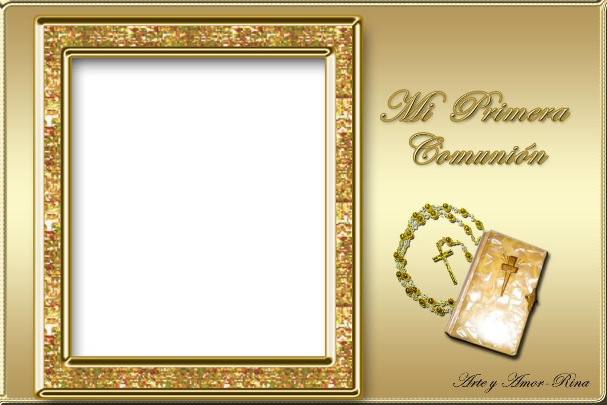 Kit Imprimible Mi 1º Comunion + Marco + Kitt En Blanco - $ 39,99 ...