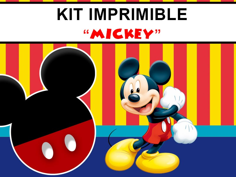 Kit Imprimible Mickey Pictures To Pin On Pinterest Tattooskid