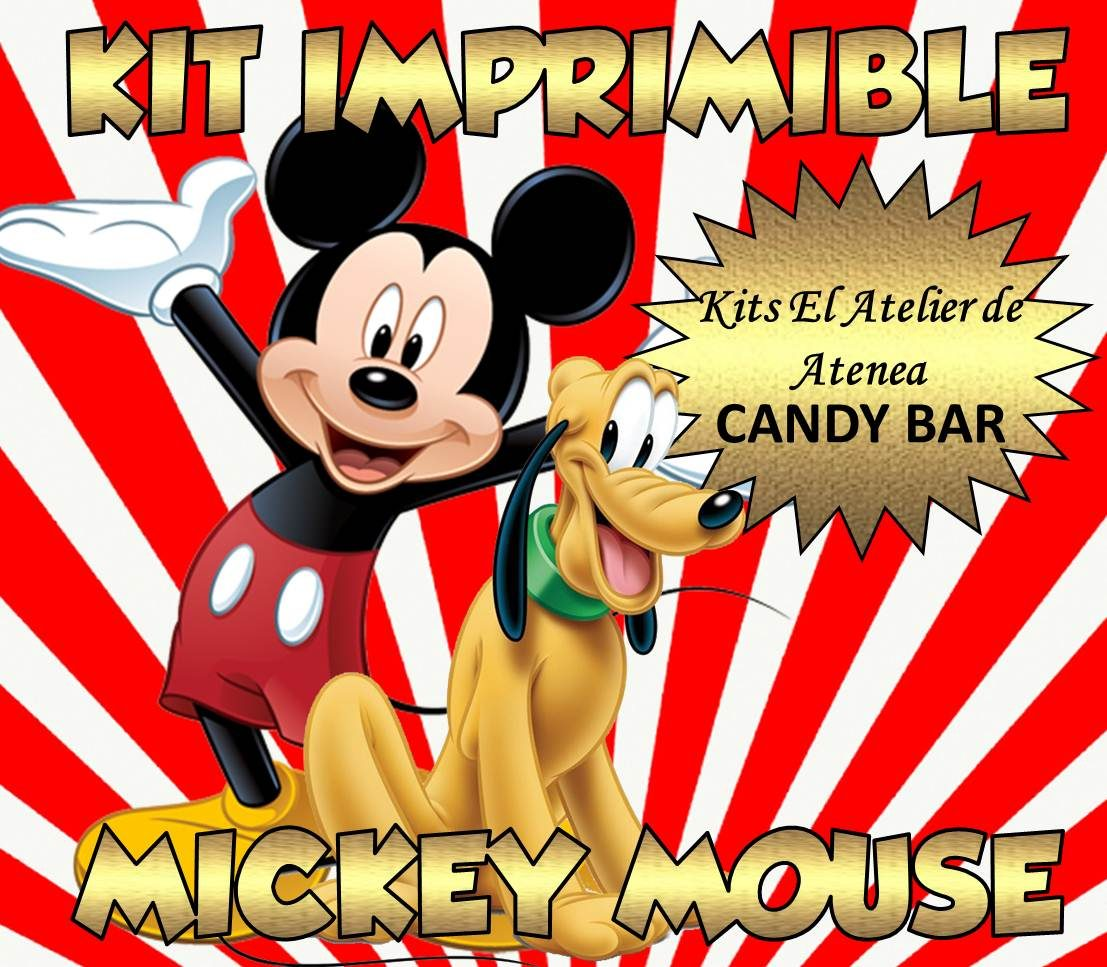 Kit Imprimible Mickey Candy Bar   Golosinas   Envio Gratis