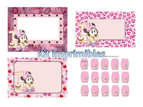 Tarjetas de primer anito de Minnie - Imagui