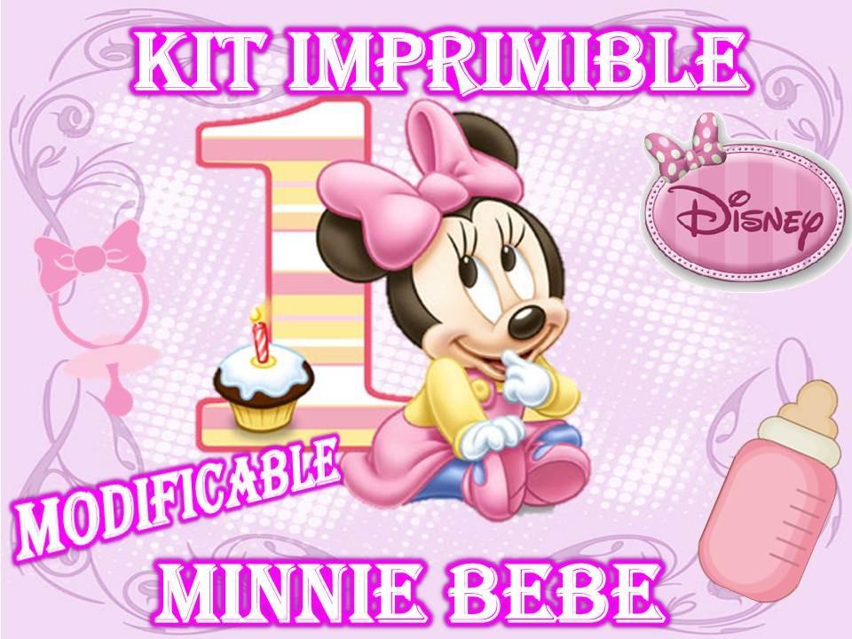 Invitaciónes de cumpleaños gratis de baby Minnie - Imagui