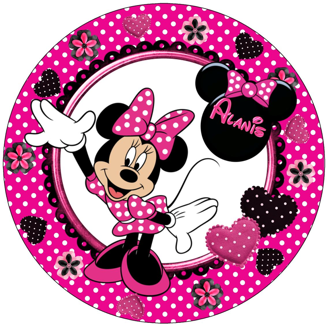 Decoracion Minnie Fucsia ~ Kit Imprimible Minnie Mouse Lunares 3 En 1 ?nico Miralo  $ 50,00