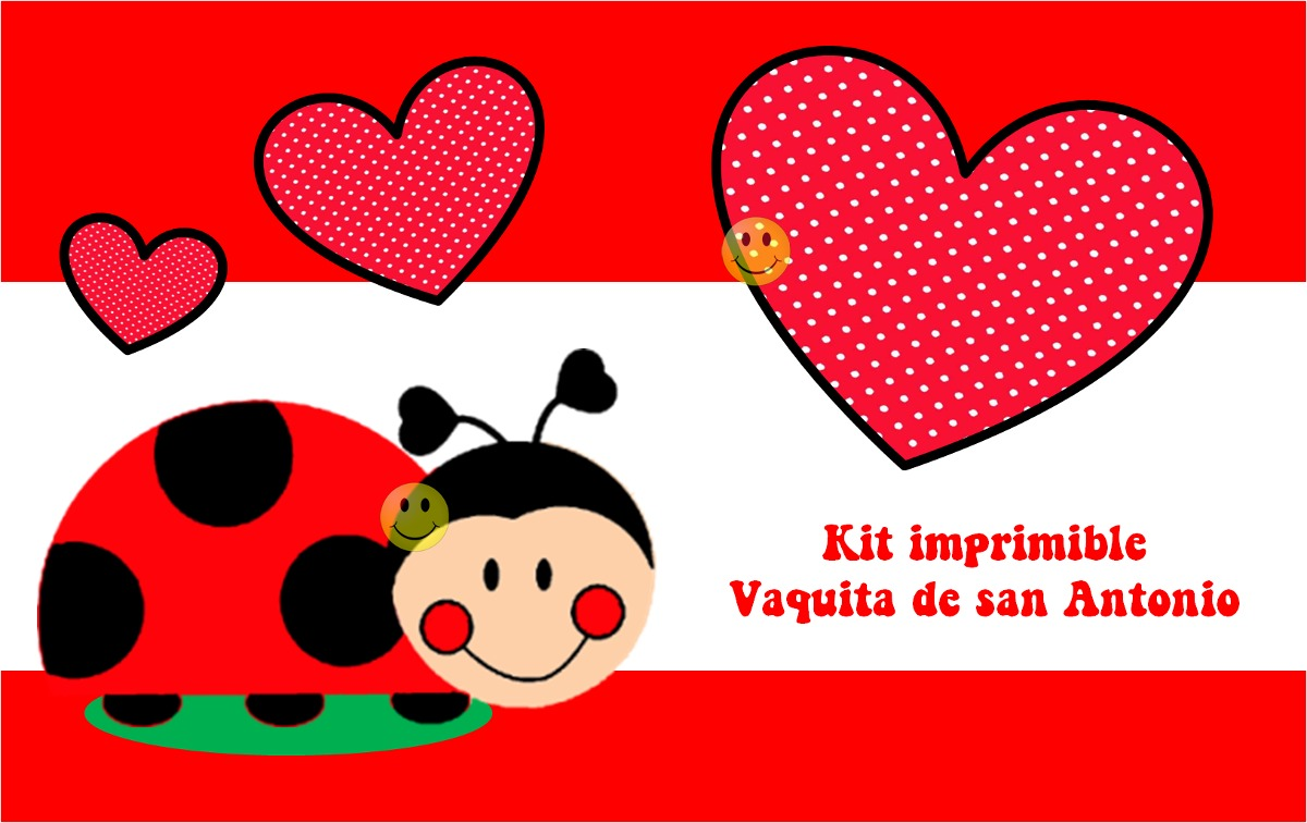 Kit imprimible Vaquitas de San Antonio - blog.todobonito.com