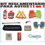 Kit Reglamentario Auto Ptoda Ley Pais 11en1 Baliza Etc $